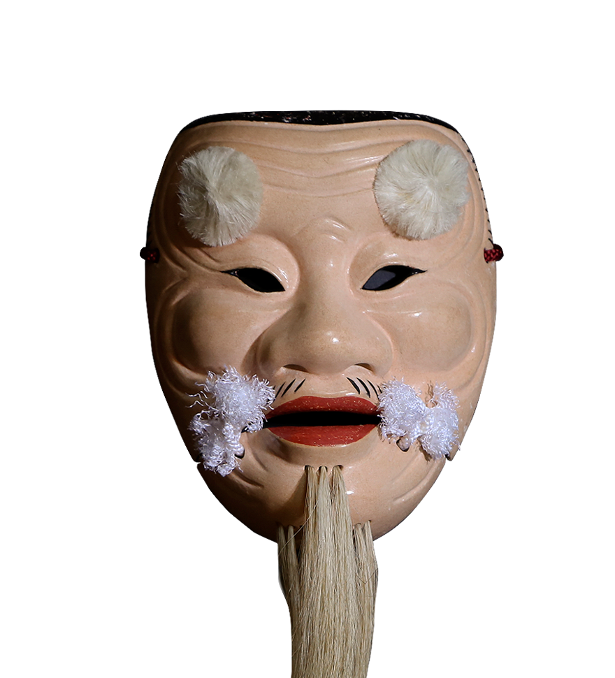 能面・父尉(Noh mask・Chichinojyo)/正面