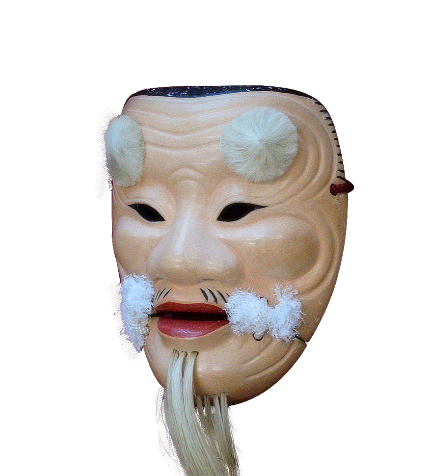 能面・父尉(Noh mask・Chichinojyo)/斜め