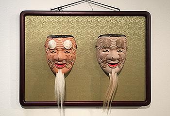 京都の能面教室・玄正会・第3回能面花心展